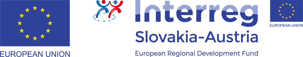 Logo Interreg Slovakia - Austria, European Regional Development Fund